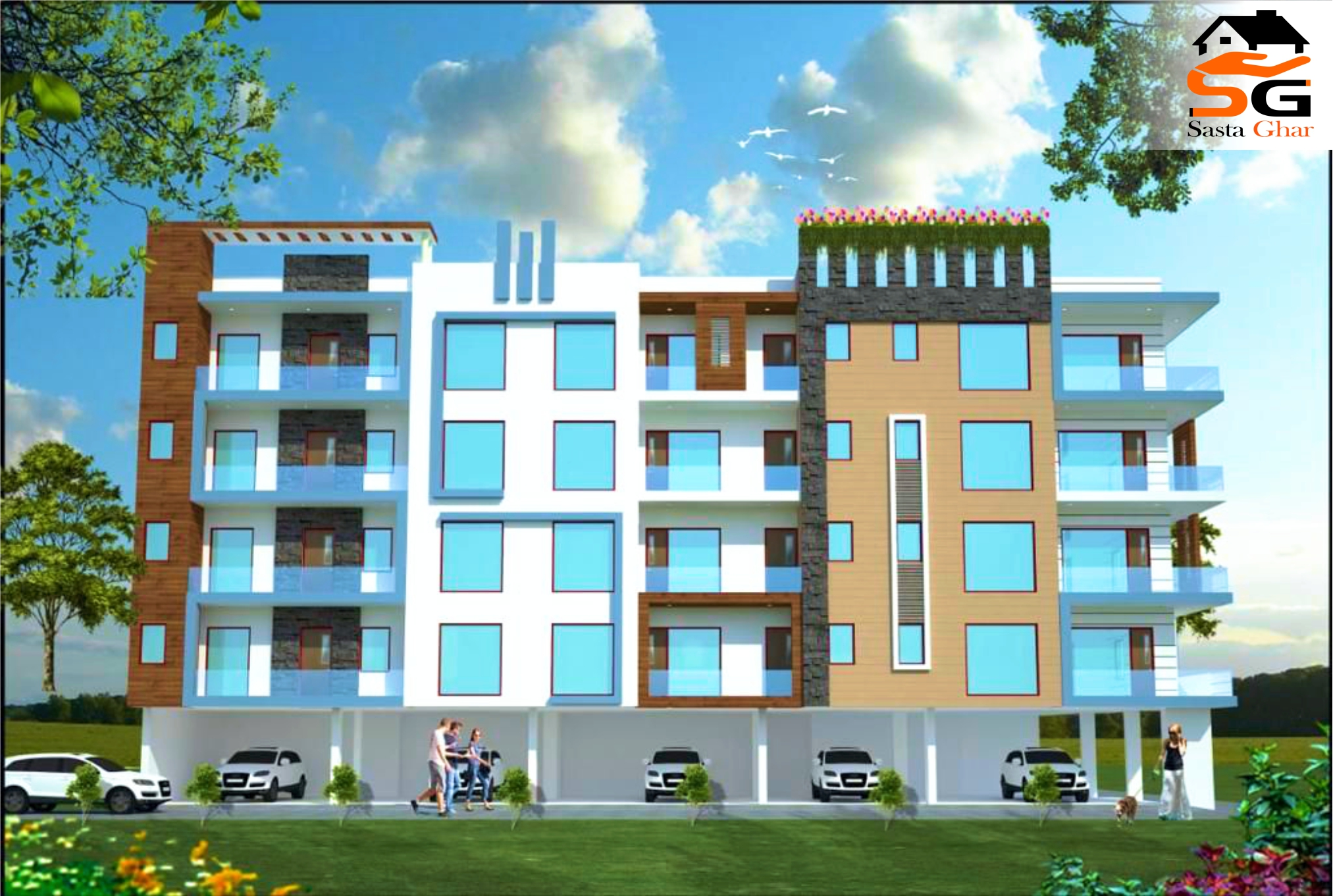 3 bhk flats in new Delhi image
