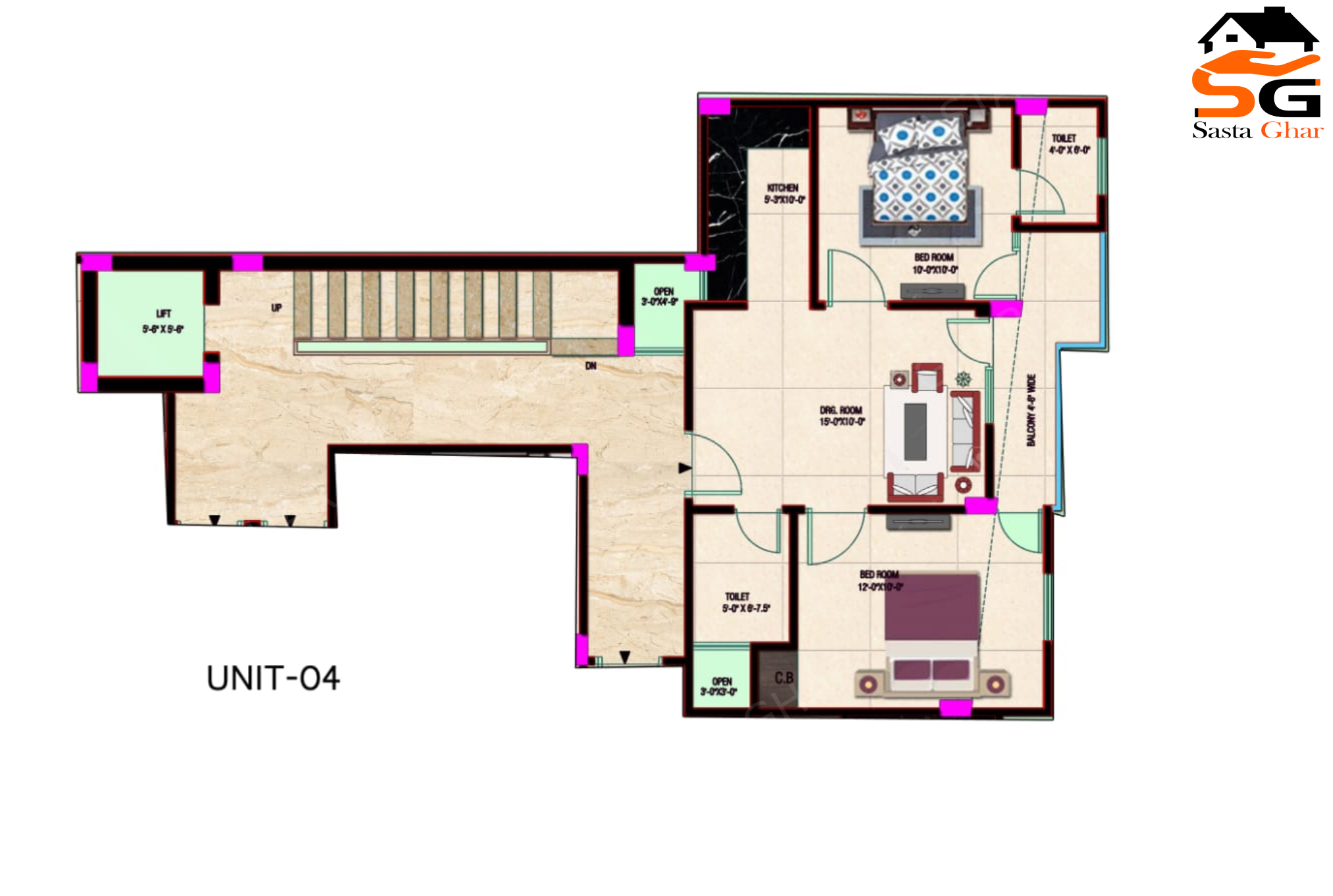 2 BHK Flat Jonapur Image
