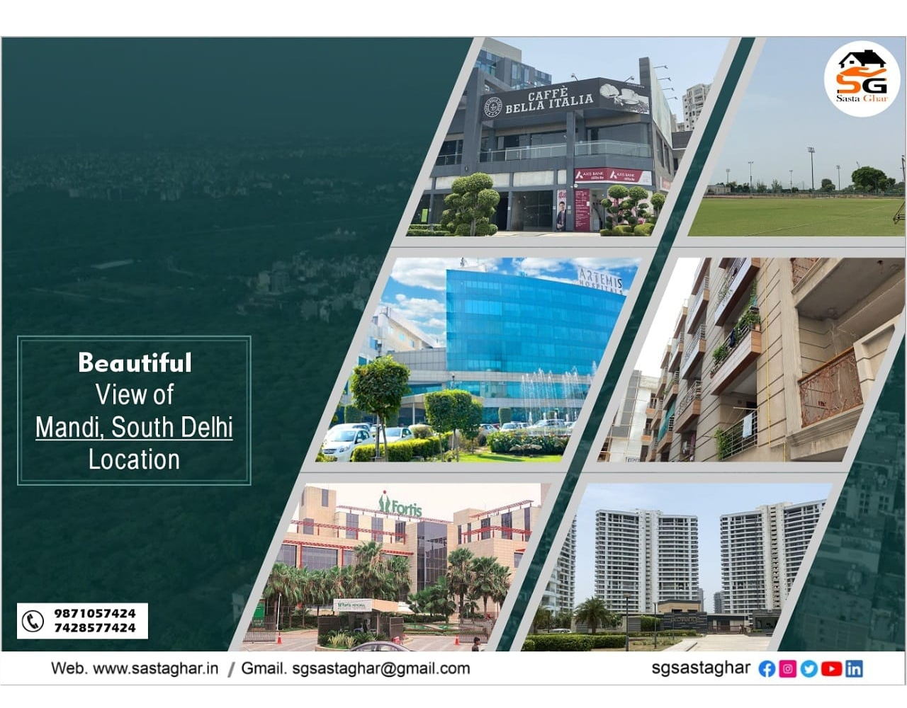 3 BHK Flats in South Delhi under 60 lakhs Image