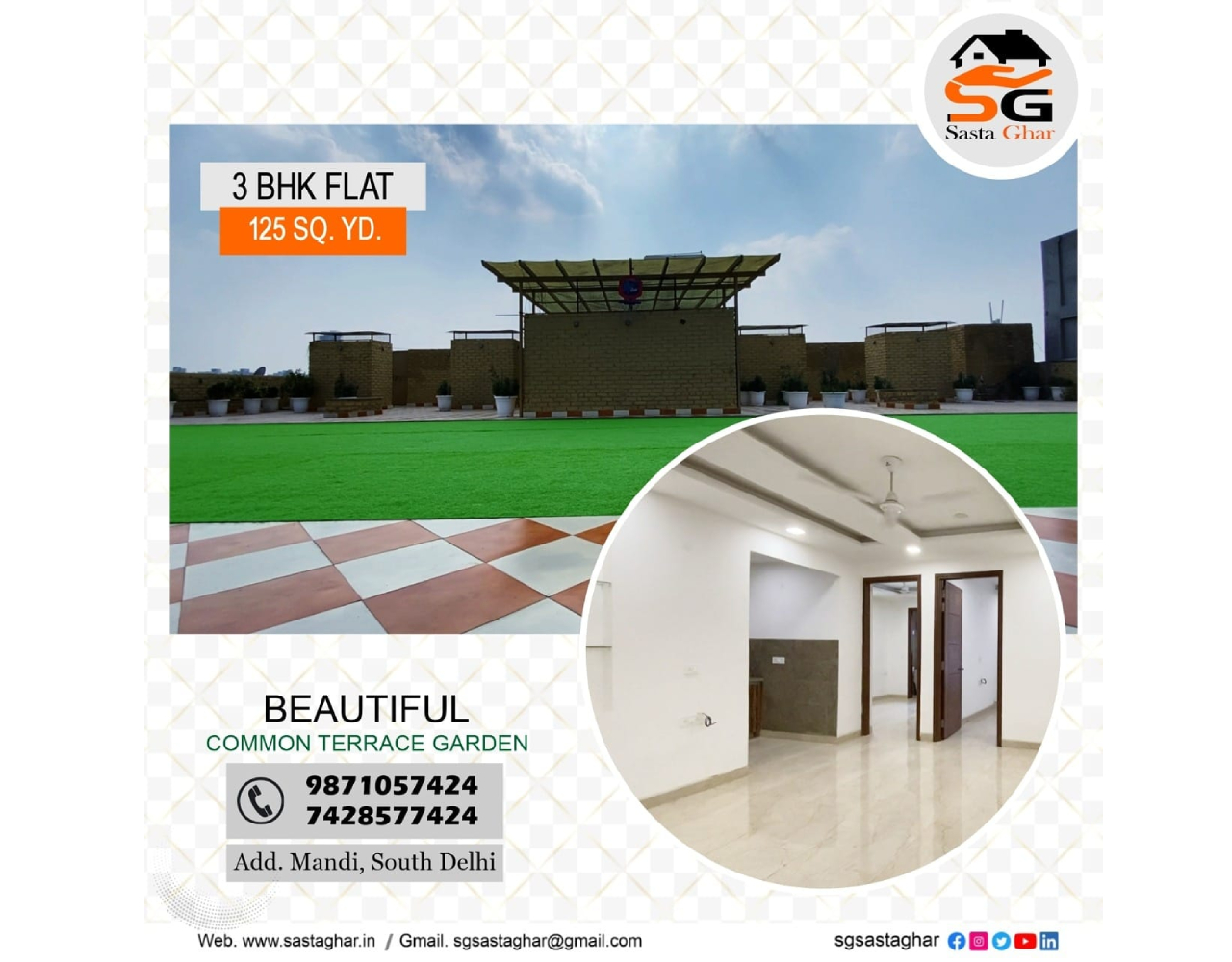 3 BHK flats In Mandi South Delhi