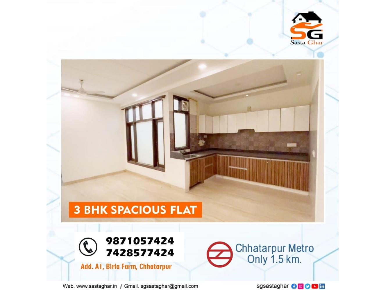 2 BHK flats In Birla farm South Delhi