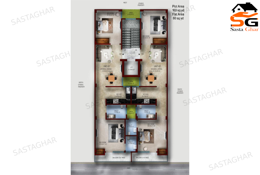 2 BHK flats in Chattarpur enclave
