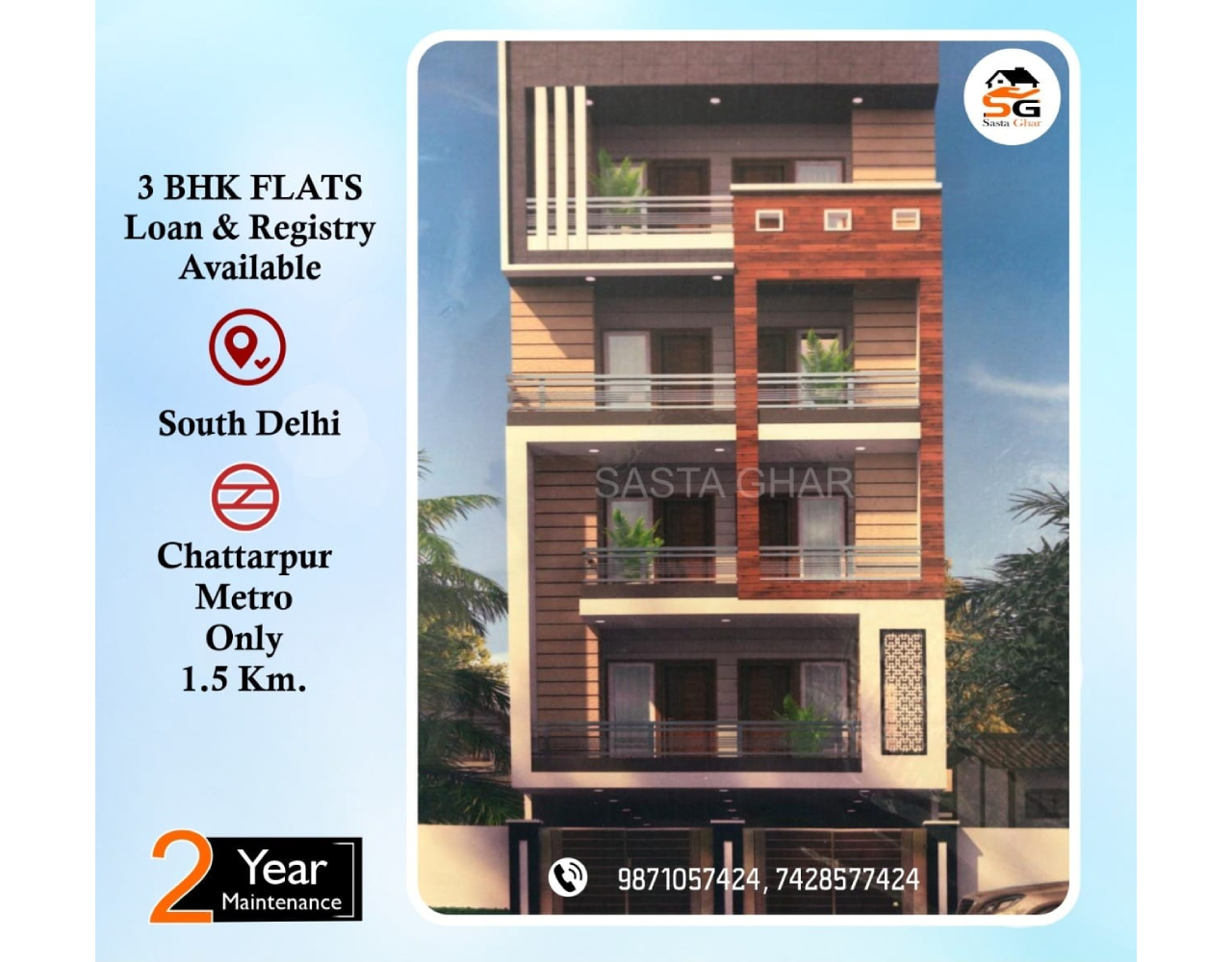 Registry flats for sale in Chattarpur Image
